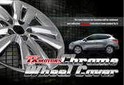 "2010+ Tucson IX Molded 18"" Chrome Wheel Covers 4pc"