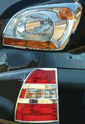 2005-2010 Sportage Chrome Headlight/Taillight Trim 4pc Package