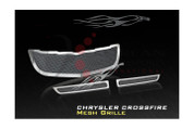 Chrysler Crossfire Stainless Steel Mesh Grill Set 3pc