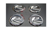 2011-2013 Sportage R 7X 3D Wheel Cap Emblem Overlays Set 4pc