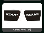 2010-2013 Forte Koup Gloss Black Interior Door Handle Shell Insert Set 2pc