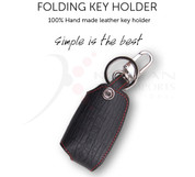 2014+ Rondo/Carens ESI/Mobis Black Leather Smart Key Holder/Chain