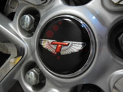 06-10 Accent/Verna Tomato T-WING OVERLAY Wheel Cap Emblem Set 4p