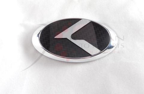 "2012+ Rio Pride Hatchback K2 LODEN Carbon/Stainless Steel ""K"" Replacement Steering Wheel Emblem"