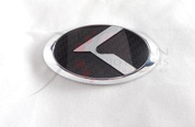 """2005 - 2010 Sportage LODEN Carbon/Stainless Steel """"K"""" Replacement Steering Wheel Emblem"""