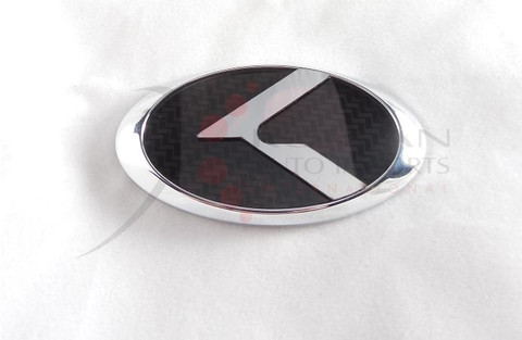 "VENGA LODEN Carbon/Stainless Steel ""K"" Replacement Steering Wheel Emblem"