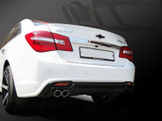 2013+ Chevy Cruze Sport Rear Bumper Diffusor w/ Faux Exhaust Tips