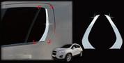 Chevy Trax Chrome Rear Window C-Pillar Trim Set 2pc