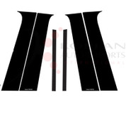 Buick Encore Gloss Black Mirror Door Pillar Post Set 6pc