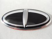 2013-2014 Santa Fe / MaxCruz Loden 3D T-Logo Oval Steering Wheel Emblem for Kia & Hyundai Models (7 PASSENGER)