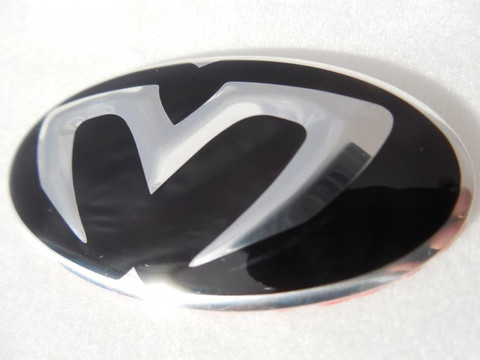 New Ms 3d Oval Steering Wheel Emblem Overlay For Kia And Hyundai