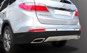 2013-2014 Santa Fe/ MaxCruz Chrome Rear Bumper Molding Set 3pc (7 Passenger)