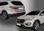2013-2014 Santa Fe/ MaxCruz Chrome Bumper Molding Set 4pc (7 Passenger)