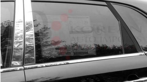 2010 - 2013 Sorento LX / EX Chrome / Stainless Steel Pillar Post Trim 4 pc
