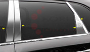 2010 - 2013 Sorento LX / EX Chrome / Stainless Steel Pillar Post Trim with Triangle 8 pc.