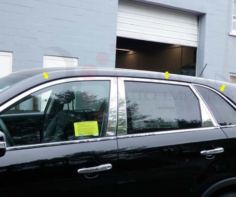 2010 - 2013 Sorento LX / EX Chrome / Stainless Steel Window Sill Trim 6 pc
