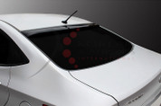 2011+ Accent/Solaris Smoke Tinted Rear Window Roof Spoiler Visor