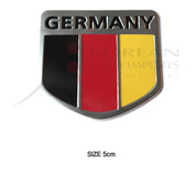 (USA WAREHOUSE CLEARANCE) Germany Shield Accent Emblem Badge Logo