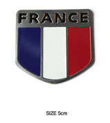 France Shield Accent Emblem Badge Logo