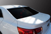 2013+ Chevy Malibu Rear Window Visor Tinted Smoke Spoiler