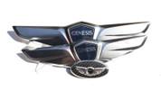 2012 - 2014 Genesis Sedan NEW* 15+Wing Badge Emblem Logo Hood/Trunk/Steering 3pc