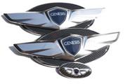 2010 - 2012 Genesis COUPE *NEW* 15+ Wing Badge Emblem Logo Hood/Trunk/Steering 3pc