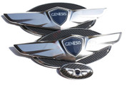 Genesis COUPE *NEW* 15+ Wing Badge Emblem Logo Hood/Trunk/Steering 3pc