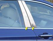 2015 Genesis Sedan Chrome / Stainless Steel Pillar Post Trim 4pc
