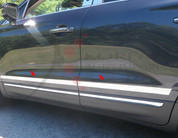 "2015 Lincoln MKC Stainless Steel / Chrome Molding Insert Trim: 1.25"" - 1.75"" tapered width 6pc"