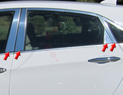 2012+ i30 / Elantra GT Stainless Steel / Chrome Pillar Post 8pc