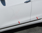 "2012+ i30 / Elantra GT Stainless Steel / Chrome Rocker Panel 1.5"" width - Lower Kit *on doors only 4pc"