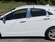 2012+ i30 / Elantra GT Stainless Steel / Chrome Window Package includes 8 Piece Pillar Kit & Upper Window Trim 18 pc