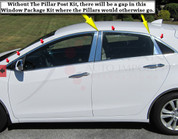 2012+ i30 / Elantra GT Stainless Steel / Chrome Window Package does not includePillar Post 10 pc