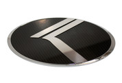 """2010 - 2013 Forte Cerato Koup LODEN """"Vintage K"""" Carbon/Stainless Badge Emblem Logo"""
