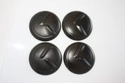 """LODEN BLACK """"K"""" Wheel Cap Emblem Overlay Set 4pc"""
