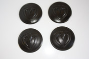 "LODEN BLACK ""M"" Wheel Cap Emblem Overlay Set 4pc for Hyundai Models"