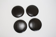 "LODEN BLACK ""T"" Wheel Cap Emblem Overlay Set 4pc for Kia Models"