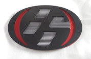 86 MATTE BLACK/RED w/ GRID Hood/Trunk Emblem Badge Replacement Toyota GT-86, Scion FRS, Subaru BRZ