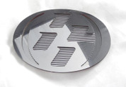 86 CHROME w/ GRID Hood/Trunk Emblem Badge Replacement Toyota GT-86, Scion FRS, Subaru BRZ