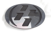 86 CHROME/MATTE BLACK Hood/Trunk Emblem Badge Replacement Toyota GT-86, Scion FRS, Subaru BRZ