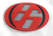 86 RED/MATTE BLACK w/ GRID Hood/Trunk Emblem Badge Replacement Toyota GT-86, Scion FRS, Subaru BRZ