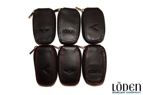 "LODEN ""K"" LOGO Genuine Leather 4 button Zipper Smart Key Case Pocket for