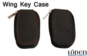 LODEN WING logo Genuine Leather Zipper Smart Key Case Pocket
