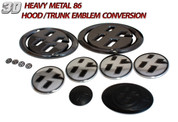 86 Ultimate Emblem Conversion Kit 12pc *BLACK CHROME* Scion FRS