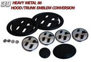 86 Ultimate Emblem Conversion Kit 12pc *MATTE BLACK* Scion FRS