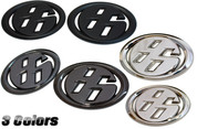 "3D Solid Metal ""86"" Badge SET Toyota GT-86, Scion FRS, Subaru BRZ"