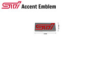 STI Mini Plaque Accent Emblem Chiclete Subaru WRX BRZ