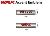 WRX Mini Plaque Accent Emblem BRZ Impreza STI (2 Versions)