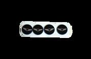 """Genesis Wing """"METAL MINI"""" Emblem Set 4pc (MMW10)"""