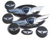 Genesis COUPE *NEW* 15+ Wing Badge Emblem Logo Hood/Trunk/Steering/Caps 7pc
